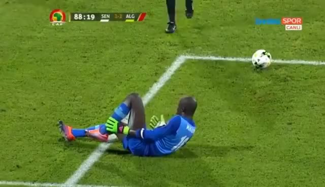 Watch and share Senegal Goalkeeper Fake Injury GIFs on Gfycat