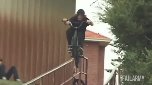 Watch Biker grinding a rail on his back pegs leans a little too far back. (reddit) GIF on Gfycat. Discover more hadtohurt GIFs on Gfycat