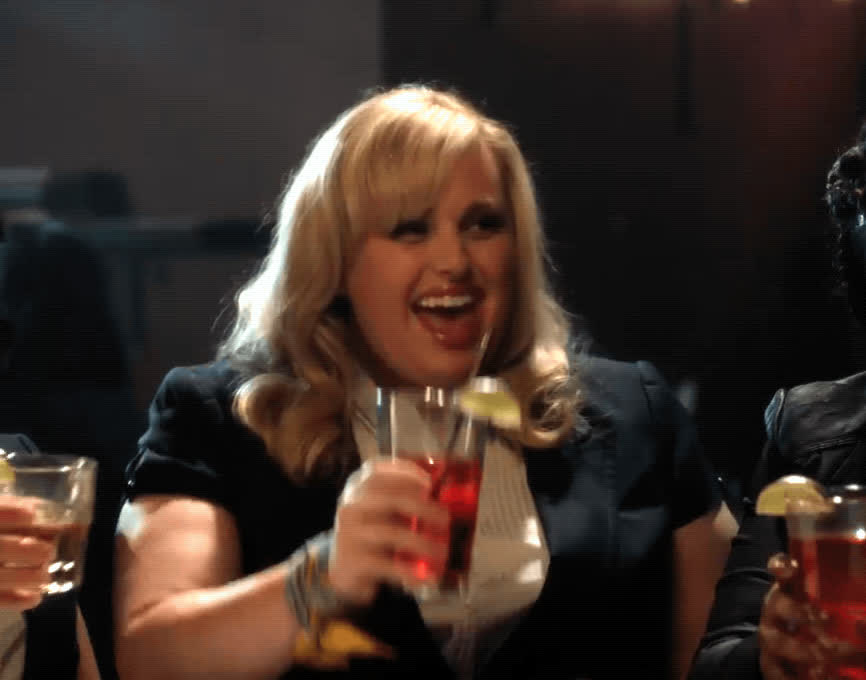 celebrate, cheers, ladies night, pitch perfect 3, rebel wilson, Rebel Wilson Cheers - Pitch Perfect 3 GIFs