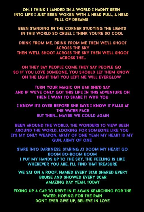 Watch and share Lyrics GIFs on Gfycat