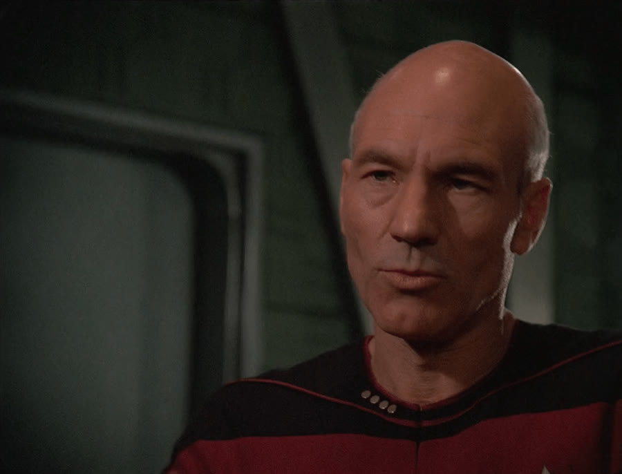 Captain Picard, Jean-Luc Picard, Patrick Stewart, Picard, Star Trek, Star Trek The Next Generation, TNG, The Next Generation, When I'm trying to participate in Trek theory discussions GIFs