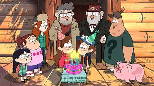 13, birthday, birthday cake, celebrate, gravity falls, happy birthday, thirteen, Gravity Falls Dipper and Mabel's 13th Birthday GIFs