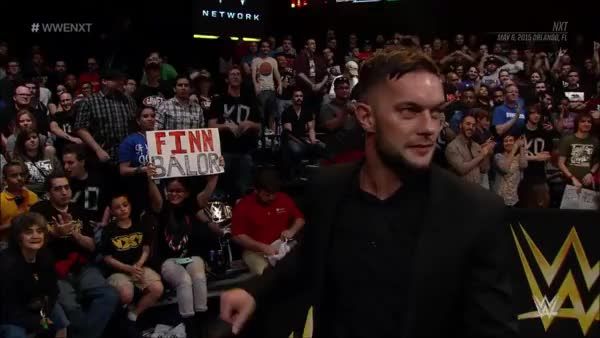 Watch and share Finn Bálor Giving The NXT Crowd A Too Sweet. (reddit) GIFs on Gfycat