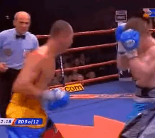 """Watch [GIF] This Day In Boxing Nov 26 2005. """"Carlos Maussa was able to cut Ricky Hatton early in the fight, twice. Hatton responded by outgunning the WBA champion and ended the bout with a devastating left hook, unifying the 140lb titles."""" (reddit) GIF on Gfycat. Discover more Boxing, boxing GIFs on Gfycat"""