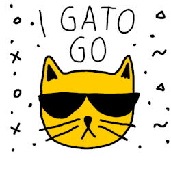 bye, cat, farewell, g2g, goodbye, gotta go, later, look human, peace out, pun, see ya, I Gato Go GIFs