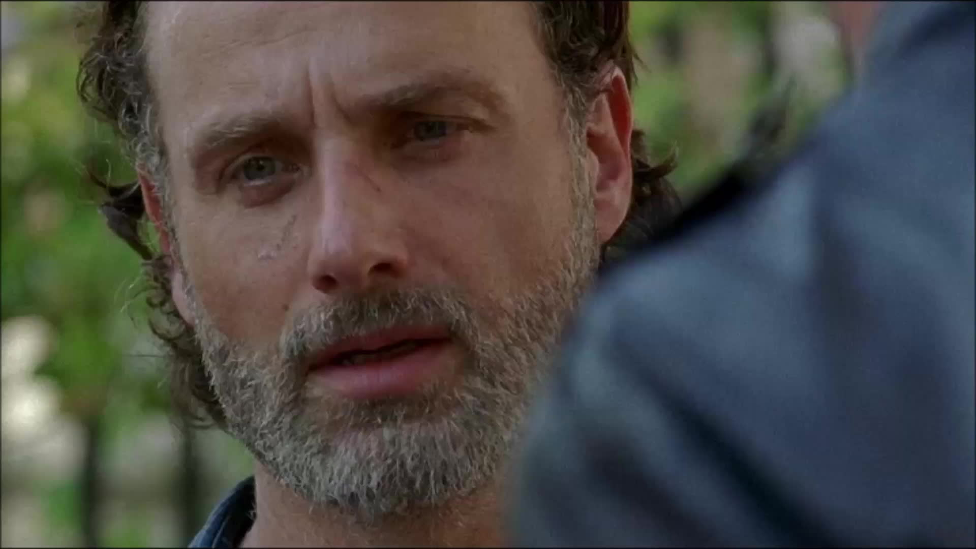Andrew Lincoln, side eye, side glance, thewalkingdeadseason7ep4, twd, twds7ep4, The Walking Dead season 7 ep4 GIFs