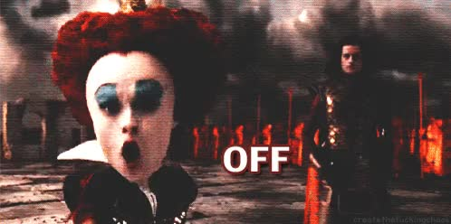 Watch and share Alice In Wonderland, Tim Burton And Red Queen GIF On We Heart It GIFs on Gfycat