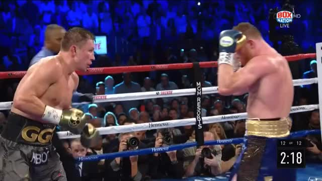 Watch GGG and Canelo fighting their hearts out to win the 12th GIF by Tom_Cody (@tomcody) on Gfycat. Discover more Boxing, Canelo, Canelo Alvarez, GGG, Gennady Golovkin GIFs on Gfycat
