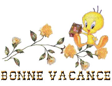 Watch and share Bonne Vacance De Tweety animated stickers on Gfycat