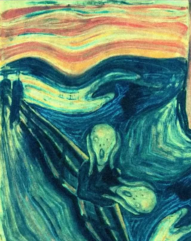 Watch this art GIF by Photo Mirages (@insanewayne) on Gfycat. Discover more art, the scream GIFs on Gfycat