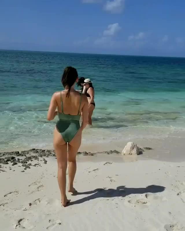 ass, beach, olivia munn, swimsuit, HospitableWellmadeBison GIFs