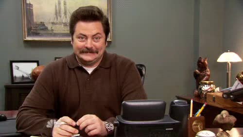 Watch and share Ron Swanson GIFs and Happy GIFs on Gfycat