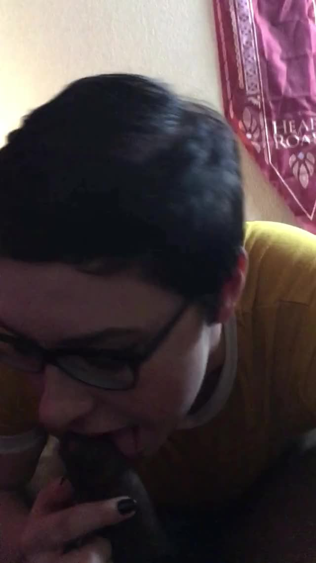 cutie in glasses knows how to work my Penis
