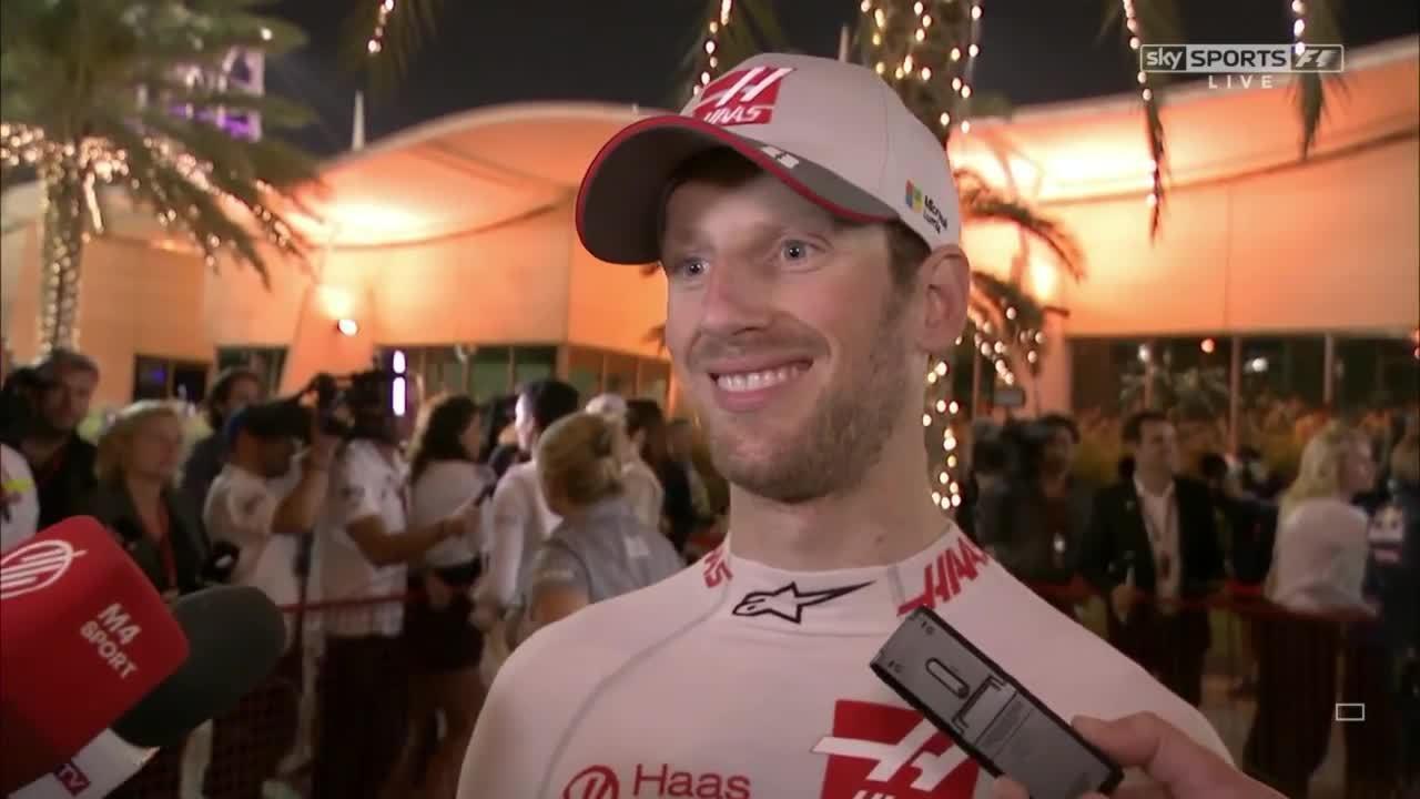 romain grosjean, 2016 Bahrain - Post-Race: Romain Grosjean GIFs