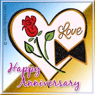 Watch and share Happy Anniversary Heart Glitter Clipart GIFs on Gfycat