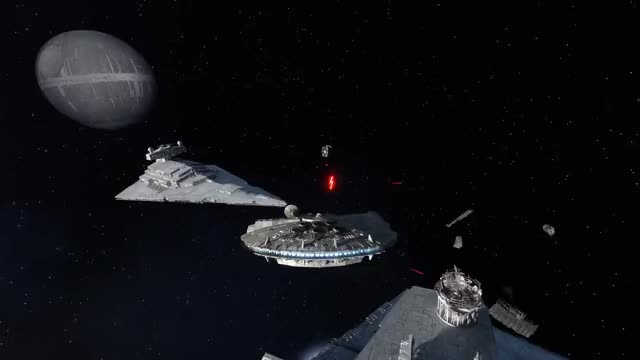 Watch Star Wars Battlefront Death Star | Space Battle Gameplay & Imperial Star Destroyer Explosion (60fps) GIF by Mark LoProto (@thegamersghost) on Gfycat. Discover more death star dlc, star wars battlefront, star wars battlefront death star GIFs on Gfycat