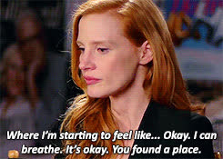 jessica chastain, gifs jessica chastain my sweet angel LOOK AT HER SHE GIFs