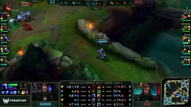 Watch G2 vs ROC - EU LCS 2018 Spring - G2 Esports vs Roccat GIF on Gfycat. Discover more related GIFs on Gfycat