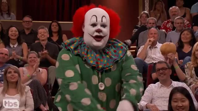 "Watch and share Butterscotch The Clown Isn't Happy With ""IT""  - CONAN On TBS GIFs on Gfycat"