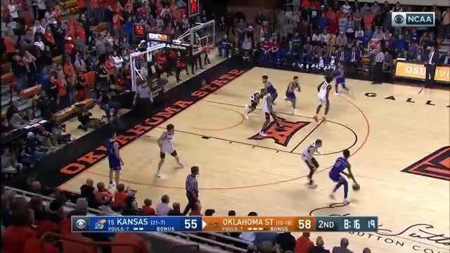 pistolsguy, College Basketball: Kansas at Oklahoma State | CBS | Clippit GIFs